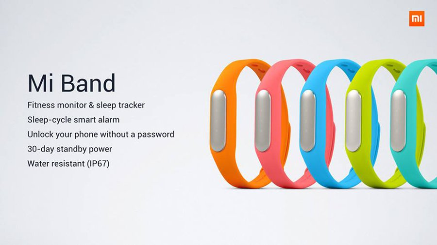 Xiaomi MiBand smart bracelet 2