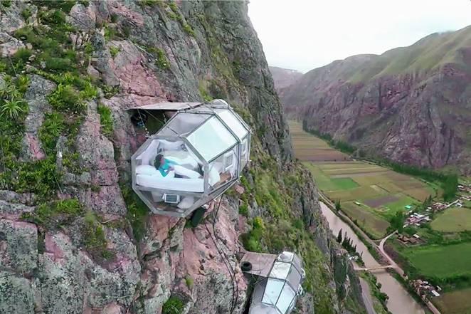 Peru Andes Yamacında ki İnanılmaz Kapsül Otel